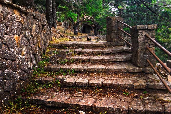 Лестница на даче Муссолини