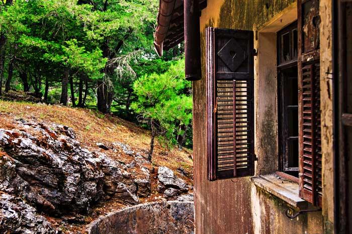 Окно на даче Муссолини