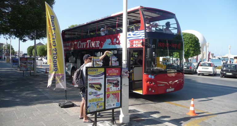 Экскурсия на двухэтажном автобусе по Родосу