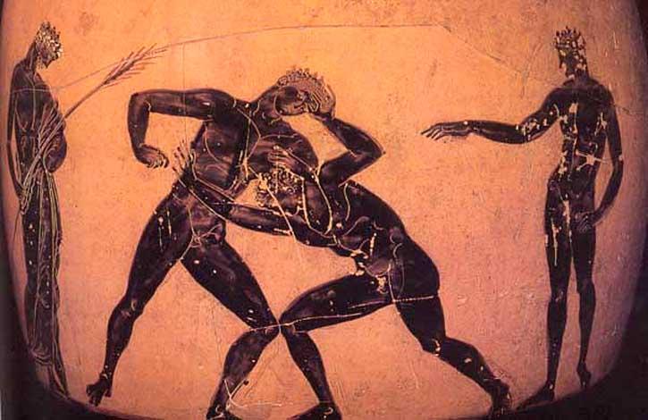 Древнегреческая борьба