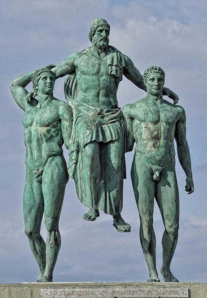 Диагор Родосский на руках у сыновей